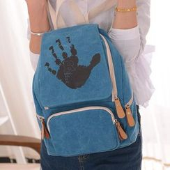 Filio - Hand Print Canvas Backpack