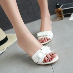 JY Shoes - High Heel Slide Sandals