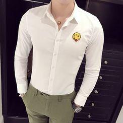 Orizzon - Long-Sleeve Applique Shirt
