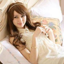 Tokyo Fashion - Lace-Panel Sleeveless Chiffon Top