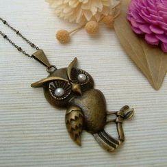 MyLittleThing - 珍珠猫头鹰项链