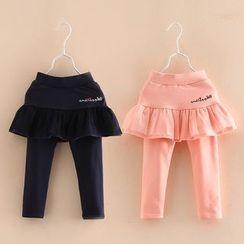 Seashells Kids - Kids Leggings Inset A-Line Skirt