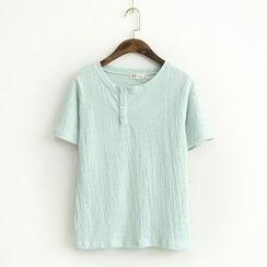 蘭芝 - 扣領短袖T恤