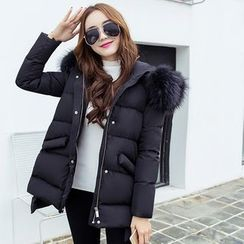 Coolvibe - Faux-Fur Hooded Padded Coat