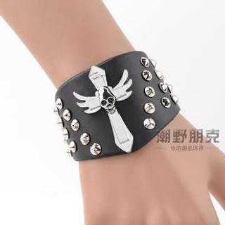 Trend Cool - Cross & Studded Bracelet