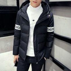Besto - Hooded Lettering Padded Jacket