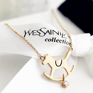 Gossip Girl - WoodenHorse Necklace