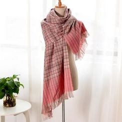 RGLT Scarves - Fringe Plaid Scarf