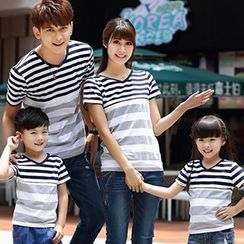 Igsoo - Parents and Kids Striped T-Shirt
