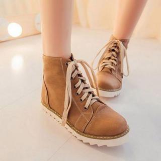 Pangmama - Lace-Up Short Boots