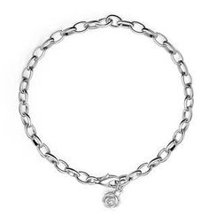 MBLife.com - Left Right Accessory - 925 Sterling Silver Dangle Tiny Rose Bracelet (6.5') Women Girl Jewelry in Gift Box