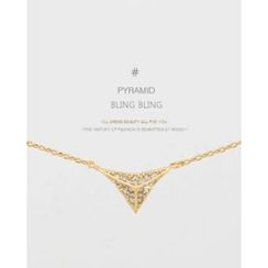 Miss21 Korea - Pyramid-Pendant Chain Necklace