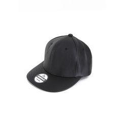 MODSLOOK - Faux-Leather Baseball Cap