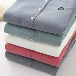 Colorful Shop - Fleece-Lined Shirt