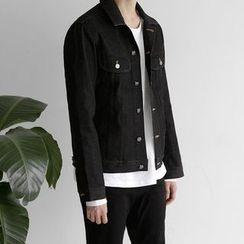 Seoul Homme - Flap-Pocket Denim Jacket