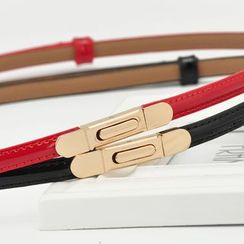 HANYI - Genuine-Leather Slim Belt