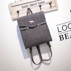 Bibiba - Check Canvas Backpack