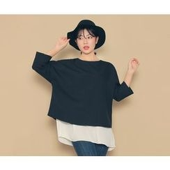 HOTPING - 3/4-Sleeve Layered Top
