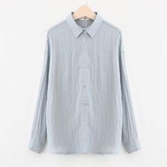 Meimei - Linen Cotton Long-Sleeve Blouse