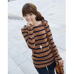 CLICK - Boatneck Stripe T-Shirt