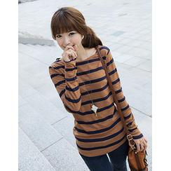 CLICK - Boatneck Stripe T-Shirt