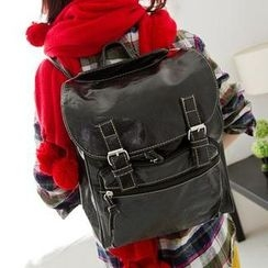 M.R. - Convertible Faux Leather Backpack