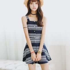 AiAi Bear - Set: Buttoned Tank Top + Printed A-Line Skirt