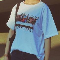 Dute - 短袖印花T恤