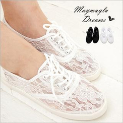 Maymaylu Dreams - Lace Crochet Casual Shoes