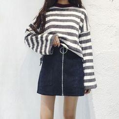 HL哈嘍妹妹 - 前拉鏈裙褲