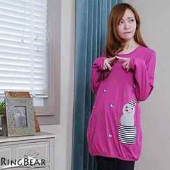RingBear - Long-Sleeve Print Tunic