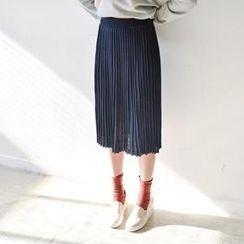JUSTONE - Accordion-Pleat Midi Skirt