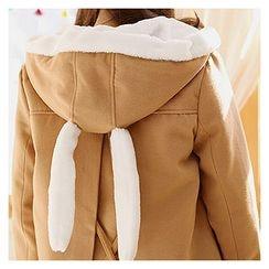 Sechuna - Single-Breasted Hooded Jacket