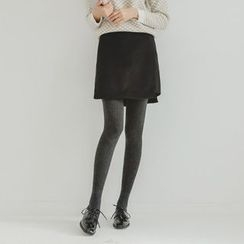 JUSTONE - Cutout-Hem Mini Skirt