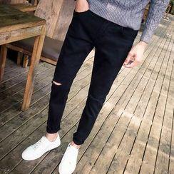 Telvi - Ripped Slim-Fit Pants