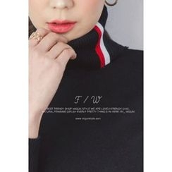 migunstyle - Turtle-Neck Knit Top