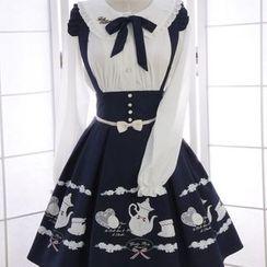 Reine - Print High Waist Jumper Skirt
