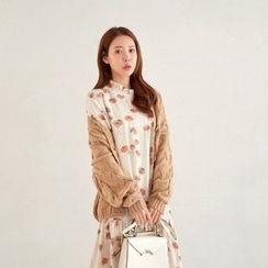 Seoul Fashion - Cable Knit Cardigan