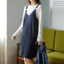 JUSTONE - Boxy-Fit Knit Jumper Dress