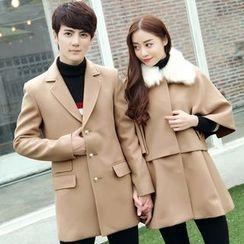 NoonSun - Couple Matching Woolen Coat
