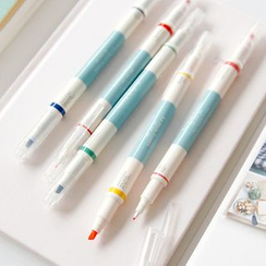 Full House - Set of 5: Multicolored Double-Tipped Pens