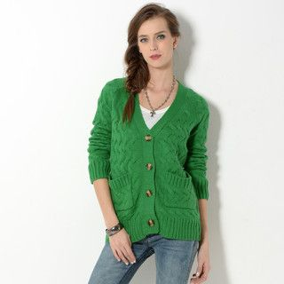 YesStyle Z - Cable-Knit Cardigan