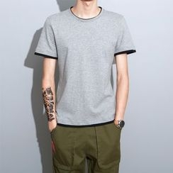 Still Homme - Contrast Trim Short Sleeve T-Shirt