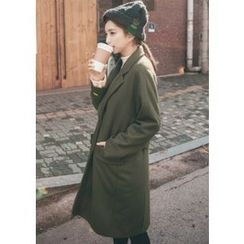 Chlo.D.Manon - Notched-Lapel Single-Breasted Wool Blend Coat