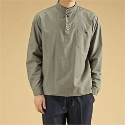 THE COVER - Pocket-Front Half-Placket Cotton Top
