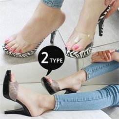 Reneve - Stiletto-Heel Mules (2 Designs)