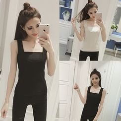 Zzang Girls - Fleece Lined Shaping Tank Top