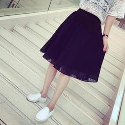 MATO - Accordion Pleat Midi Skirt