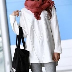 PEPER - Round-Neck Plain Long T-Shirt