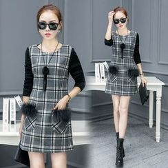 EFO - Plaid A-Line Dress